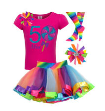 Candyland Lollipop 5th Birthday Girl Shirt Rainbow Tutu Outfit Sock Bow Name Set