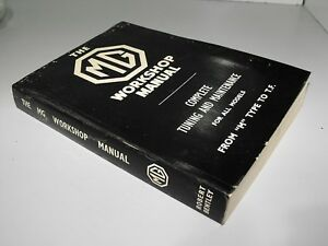 MG Workshop Manual Complete Tuning & Maintenance For All Models M Type To T.F