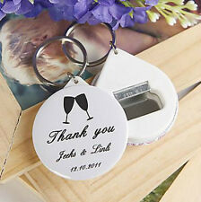 20pcs Personalized Wedding Favors Gifts For Guests Bottle Opener & Keychain
