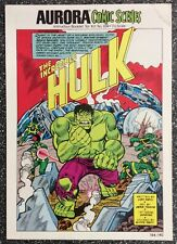 Aurora Comic Scenes: Incredible Hulk 184-140 (1974) Herb Trimpe Art