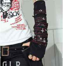 Rock Leather  Vintage Gothic Retro Steampunk Fingerless Arm Only Single Glove B