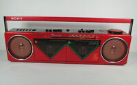 Vintage Sony CFS-W50 Cassette/Radio Boombox Player RADIO works/cassette doesn't