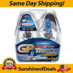 GP Thunder 7500K H3 55W Super White Bulbs Fog Light, Headlight,  Daytime running