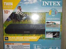 Intex Twin Standard Durabeam Standard Airbed 10 inch Height Camping Air Mattress