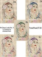 Cross stitch chart  Art Deco Lady flapper  No 3 FlowerPower37-uk FREE UK P&P