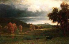 Dream-art Oil painting Albert Bierstadt Autumn Landscape The Catskills canvas