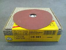 """Klingspor CS561  Fibre Discs 115x22mm Grit 320 - Box of 25 (4-1/2"""")"""