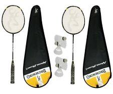 2 x Browning NanoGel Plasma 70 Badminton Rackets + 6 Carlton Shuttles RRP £615