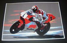 Wayne Rainey Marlboro Yamaha GP 500 Motorcycle Art Poster Print