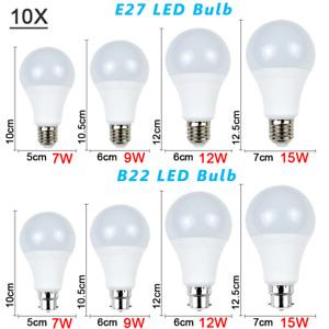 10X LED Bulb Lamp Globe Light Bayonet Screw Energy Saving Lamp Warm/Cool White
