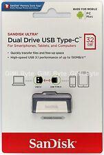 SanDisk 32 GB Ultra Dual Drive USB 3.1 Type-C SDDDC2 32G FLASH THUMB KEY STICK
