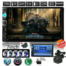 Bluetooth FM Player Stereo Radio Car 7'' HD MP5 Touch Screen+Free Rear Camera HD