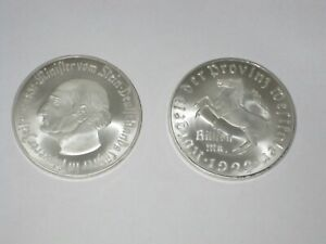 1 Billion Mark 1923 Freiherr vom Stein  Weimar Notgeld Westfalen Silver Plated