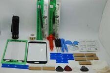 Samsung S7 Nero Kit di Riparazione Vetro Schermo Frontale, Filo, Colla, Torcia