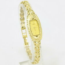 Ladies 14k Yellow Gold Diamond Cut Filigree Seiko STUNNING Wrist Watch