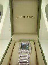 NEW IN O.B. JUDITH RIPKA ST, REGENT MOP FACE APPROX. 3.8CTW DIAMONIQUE WATCH!
