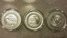 Donald Trump 3 oz .999 silver coin collectors set campaign, inauguration, seal