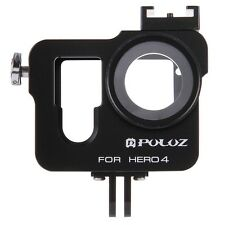 for GoPro HERO4 PULUZ Aluminum Alloy Housing Shell Protective Frame Cage Kit