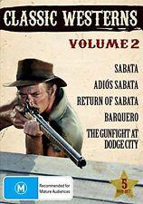 CLASSIC WESTERNS VOLUME 2 (5 movie set)   - DVD - UK Compatible