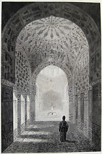 "Isfahan Isphahan Iran Original 1841 Perse ""La Maison du Vin à Ispahan"""