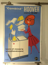 """AFFICHE PUB VINTAGE """" HOOVER """"   FIX MASSEAU Entoilée 083 X 123 cms Années 1960"""