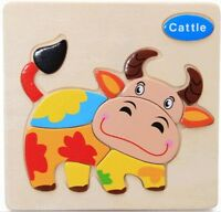 Children's Toddler's Wooden 3D Puzzle Blocks Game Toy Educational Toy Gift