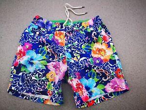 POLO RALPH LAUREN Men's/Herren Traveler swim shorts Badehose Blumendruck Gr.S