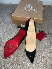 Christian Louboutin Pigalle 120 black patent Shoes heels Kate UK5.5US7EU38.5