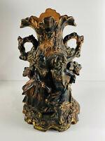 Vintage Art Nouveau Figural Bavarian Style Flower Vase Victorian Edwardian J&C