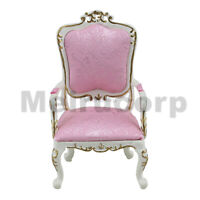 Dollhouse 1/12 Scale Miniature Living Room Furniture white Hand carved chair