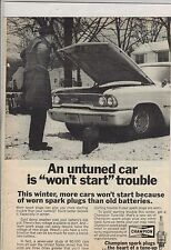 Original 1968 Champion Spark Plugs Magazine Ad - Won't Start Trouble