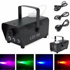 3 RGB 500W Nebelmaschine LED Rauch Fernbedienung Mit Funk Fernbedienung+Griff