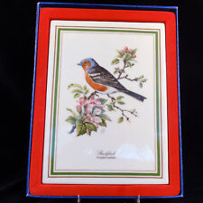 """BIRD PLAQUES by Tattau made in Germany Set of 6 9.5"""" tall Porcelain NEW IN BOX"""