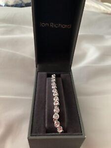 Ladies Crystal Jon Richard Frienship Bracelet In Silver