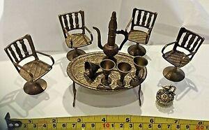 Vintage Brass Dolls House Furniture & Accessories
