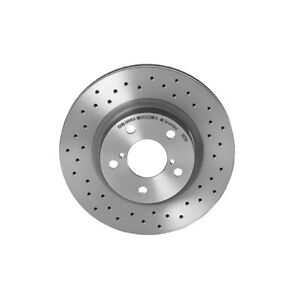 Brembo Xtra Front X-Drilled Brake Disc Rotor For Saab 9-2X Subaru Legacy Outback