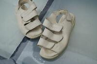 ECCO Damen women Schuhe Sommer Sandalen Klett V Gr. 35 Leder beige TOP