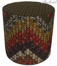 Missonihome Macro Knit Collection Nancho 159 Pouf 37 Linen Stoll diametro 45