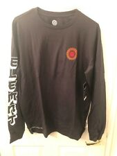 Element Men's XL Black Shirt Florian SS Tee Long Sleeve Skate Skating Dragon