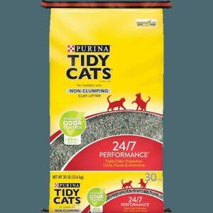 Cats Non Clumping Cat Litter, 24/7 Performance Multi Cat Litter - 30 lb. Bag