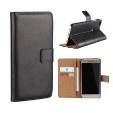 Huawei p8 LITE (2017) Wallet Sac Téléphone Portable en Cuir Véritable Pliante Étui Housse Cover Bag