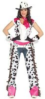 Ladies Sexy Rodeo Cowgirl Cowboy Halloween Carnival Fancy Dress Costume Outfit