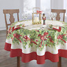 "Elrene Home Fashions Holly Traditions Fabric Tablecloth, 60"" x 84"" Oval, Multi"