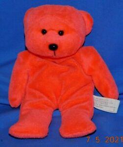 Fluoro Orange Red Beanie Bear Kids Baby No Tag Crackle Vintage Skansen No tag
