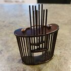 """Vintage Chinese Mini Adorable Bamboo Cricket Bug Cage 3"""" Tall"""