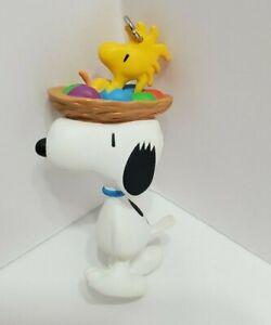 VTG Hallmark Keepsake Ornament Easter Parade Pals Snoopy Woodstock Peanuts 1996