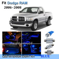 For 2006-2008 Dodge RAM 1500 2500 3500 Premium Blue LED Interior Lights Kit