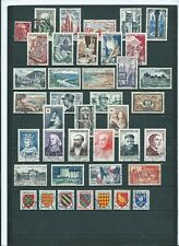 ANNEE 1954 COMPLETE soit 40 TP OBLITERES DIFFERENTS