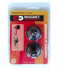 Magnetic Hooks Heavy Duty Black Set Of 6 Packs Qty Of 2 Hangers In Each Pk