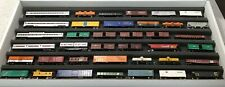 N SCALE LOT OF (38) ASSORTED FREIGHT & PASSENGER CARS MICRO-TRAINS, ATLAS ++